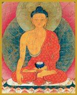 Medicine Buddha Glitter Candle