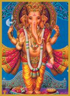 Ganesh: Standing Glitter Candle