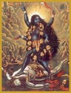 Maha Kali Glitter Candle