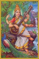 Saraswati Glitter Candle