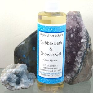 Clear Quartz Bubble Bath and Shower Gel