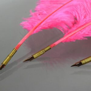 Pink Ostrich Feather Quill Pen