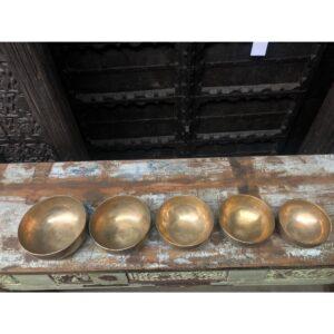 Brass Singing Bowls hand beaten. Size range 4.5 to 12