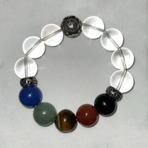 Chakra Bracelet with Sterling Silver Charms