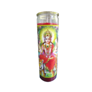 Durga Seated Glitter Candle