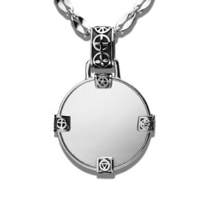 Large Mirror Pendant in Sterling Silver