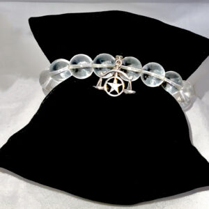 Crystal Quartz Bracelet with Silver Scale Charm