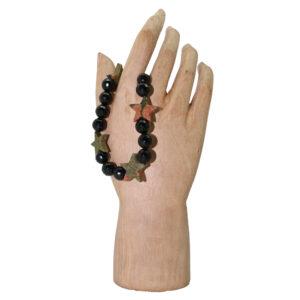Black Onyx and Unakite Stars Bracelet