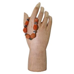 Multi-Stone Stretchy with Carnelian Bracelet