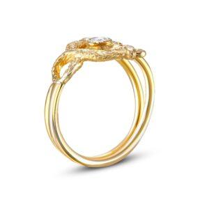 Basilisk Ring with Rose Cut Diamond