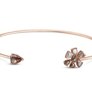 Rose Cut Multi-Colored Diamond Bangle