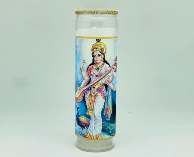 Sarasvati Standing Glitter Candle