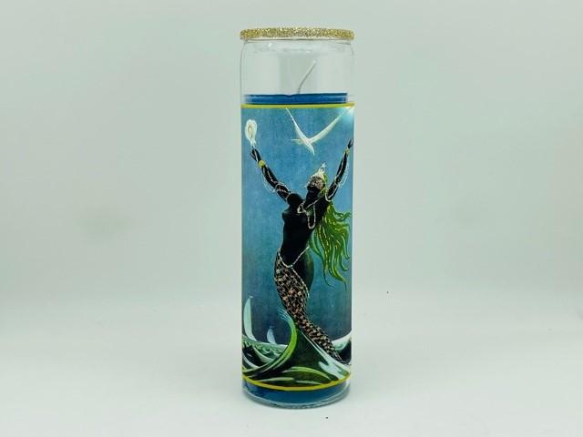 Yemaya Black Glitter Candle